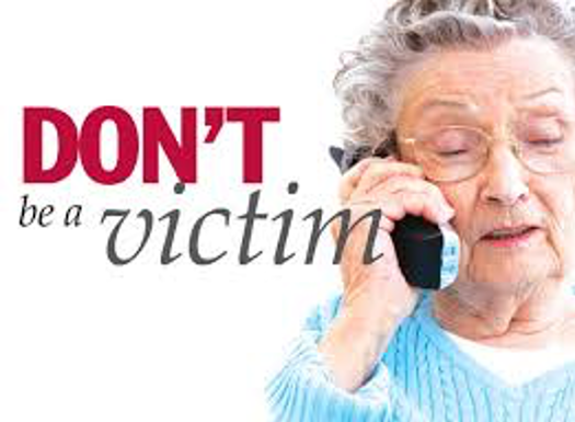 Senior on phone - don't be a victim