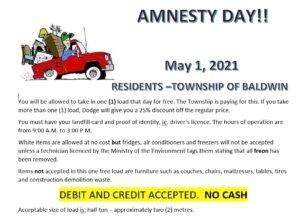 Amnesty Day - May 1, 2021