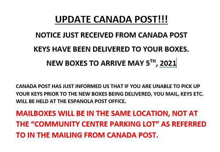 Canada Post Update